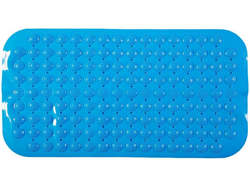 Antirutschmatte Duschwanne wei/ß 72 x 38 cm BadeStern Badewanneneinlage: Rutschfeste Badewannen-Matte mit Abflussl/öchern