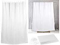 BadeStern Rideau de douche 180 x 200 cm  Anti-moisissures  Blanc; WC-Garnituren zur Wandmontage WC-Garnituren zur Wandmontage WC-Garnituren zur Wandmontage WC-Garnituren zur Wandmontage